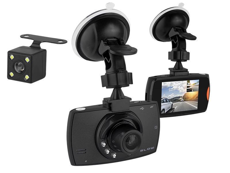 LED21 BLACKBOX DVR F480 BLOW Duální auto kamera s LCD displejem a zadní parkovací kamerou a nahráváním